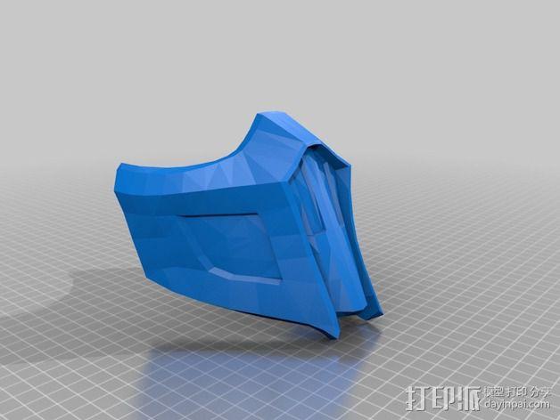 格斗之王面具 3D模型  图2