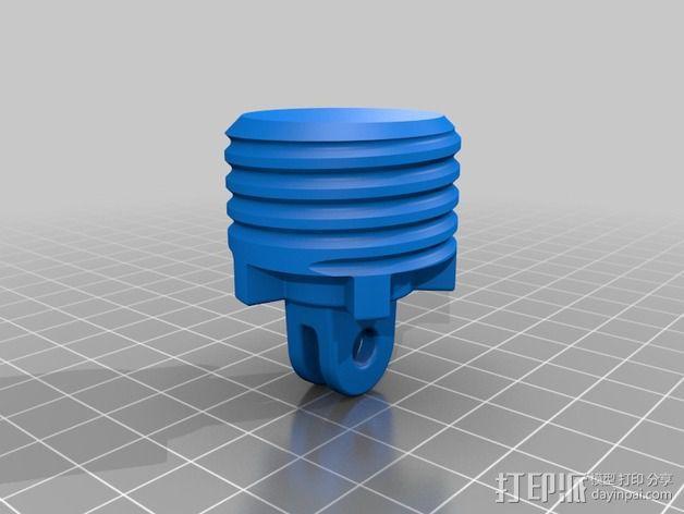 GoPro相机旋转支架 3D模型  图2