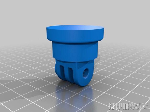 GoPro相机旋转支架 3D模型  图3
