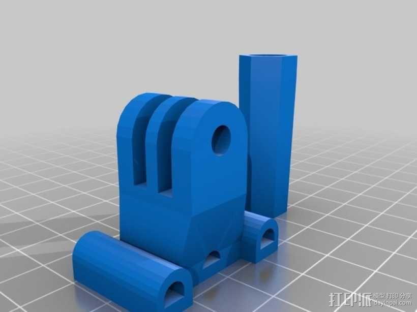 相机固定座连接器 3D模型  图2
