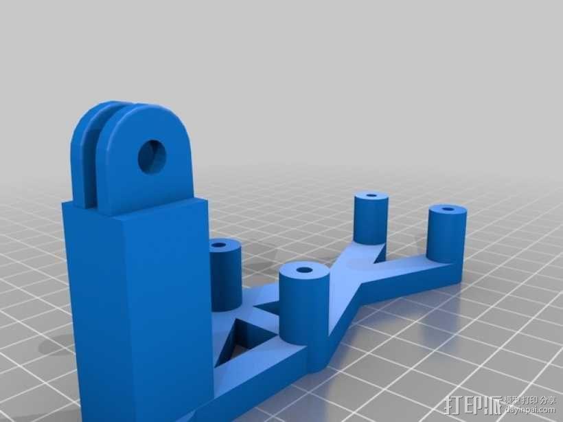 3轴平衡环支架 3D模型  图2