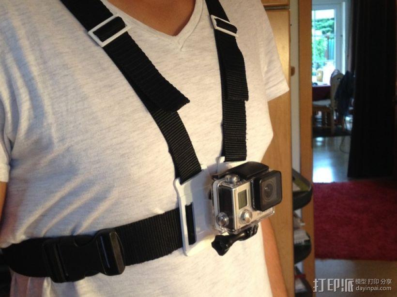 胸挂式相机架 3D模型  图1