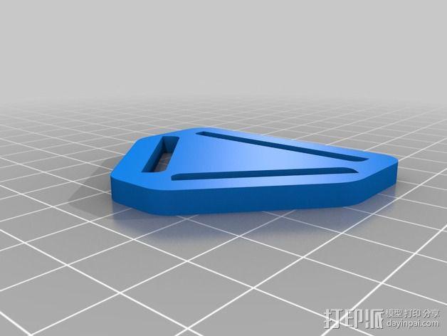 胸挂式相机架 3D模型  图2