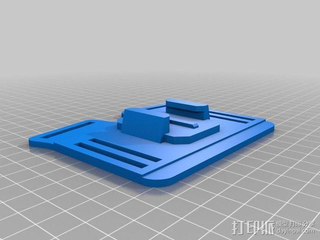 胸挂式相机架 3D模型  图4