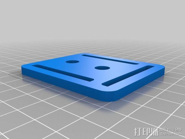 胸挂式相机架 3D模型  图3