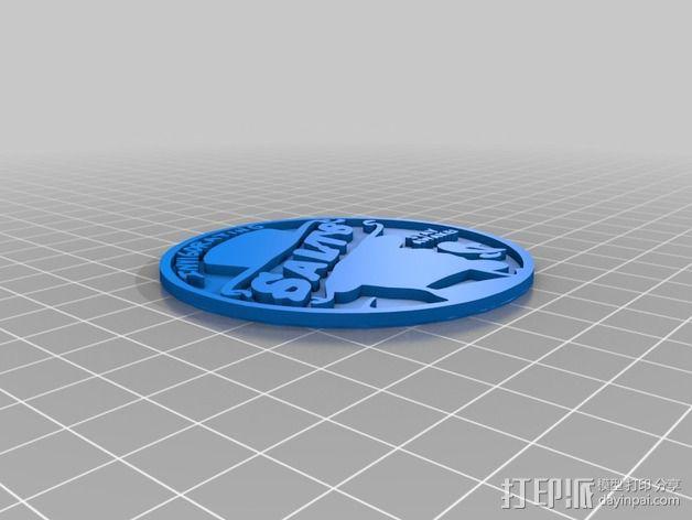 生化奇兵游戏造型标志徽章 3D模型  图4