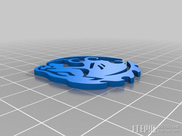 生化奇兵游戏造型标志徽章 3D模型  图6