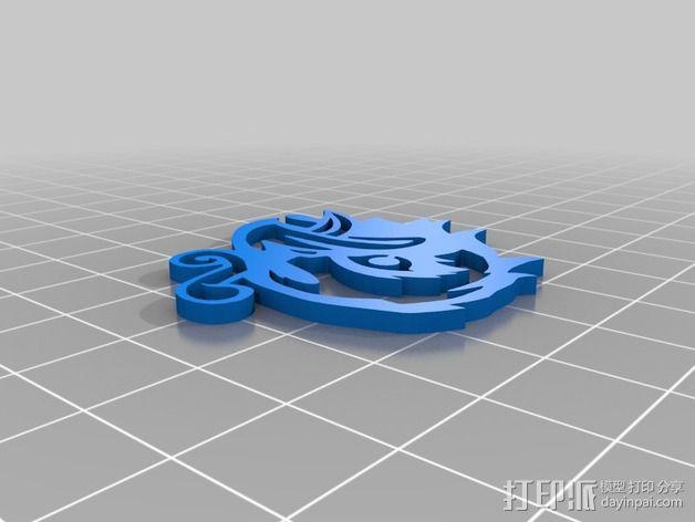 生化奇兵游戏造型标志徽章 3D模型  图7