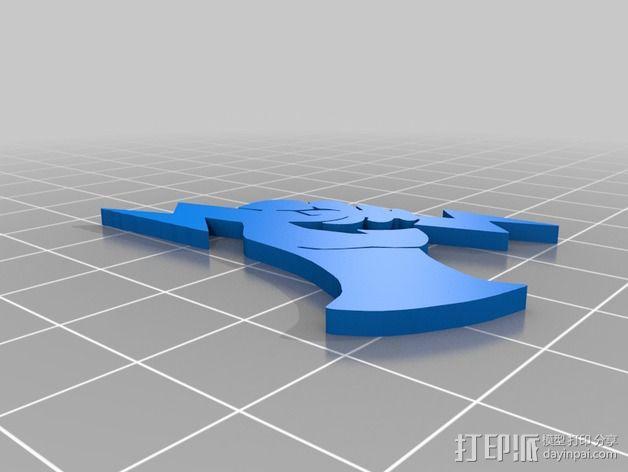 生化奇兵游戏造型标志徽章 3D模型  图9