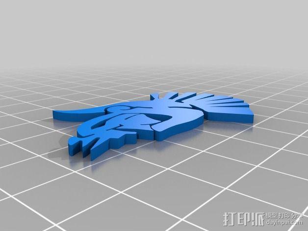 生化奇兵游戏造型标志徽章 3D模型  图8