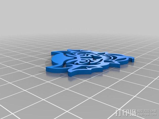 生化奇兵游戏造型标志徽章 3D模型  图10
