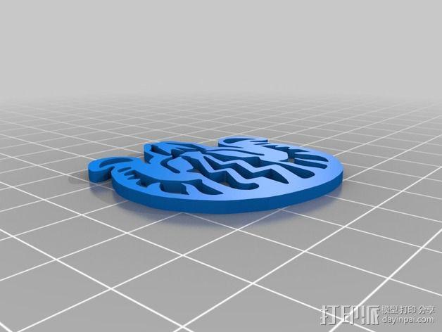 生化奇兵游戏造型标志徽章 3D模型  图12