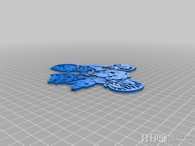 生化奇兵游戏造型标志徽章 3D模型  图13