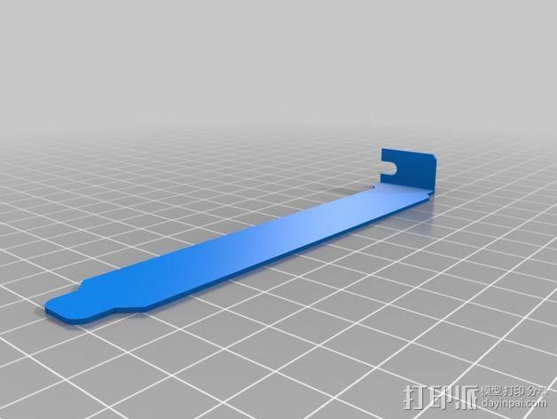 电脑插孔盖 3D模型  图2
