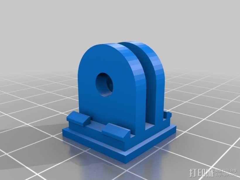 Gopro相机支撑架 底座 3D模型  图2