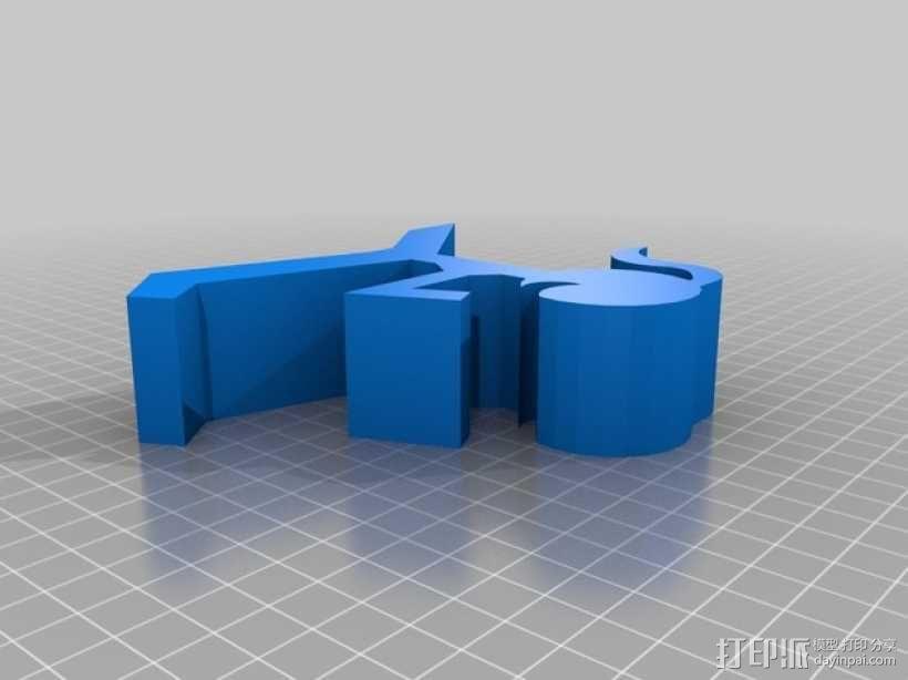 小女孩手机架 3D模型  图2