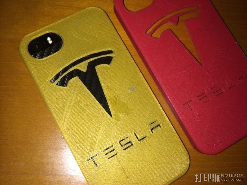 特斯拉汽车标志iPhone5/5s手机外壳 3D模型  图1