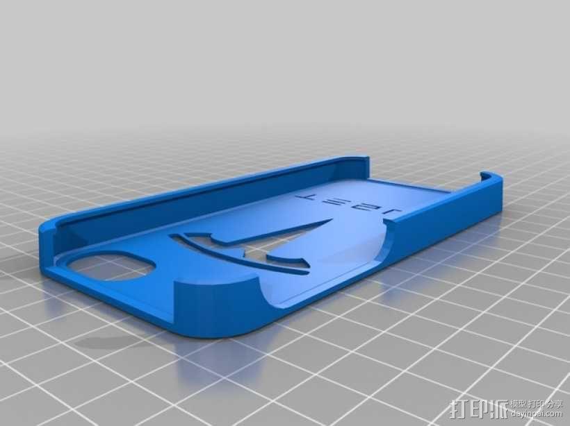 特斯拉汽车标志iPhone5/5s手机外壳 3D模型  图2