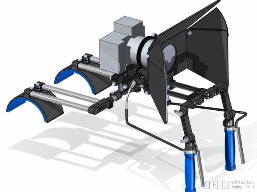 相机固定装置 相机架 3D模型  图1