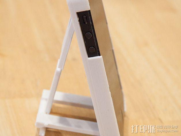 懒人必备带支撑座的iPhone 5手机套 3D模型  图1