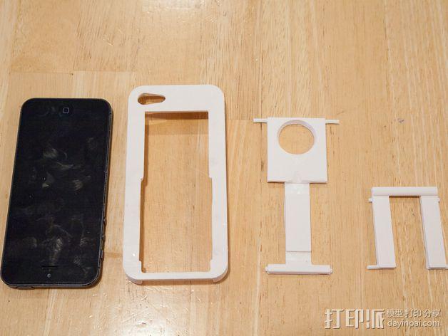 懒人必备带支撑座的iPhone 5手机套 3D模型  图3