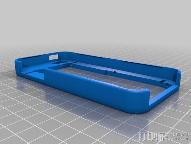 懒人必备带支撑座的iPhone 5手机套 3D模型  图2