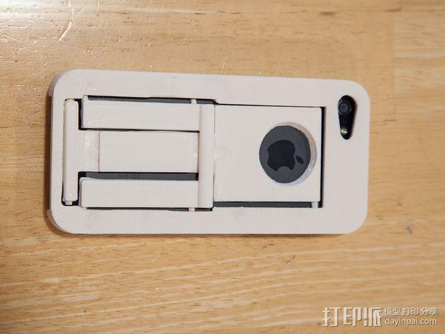 懒人必备带支撑座的iPhone 5手机套 3D模型  图6