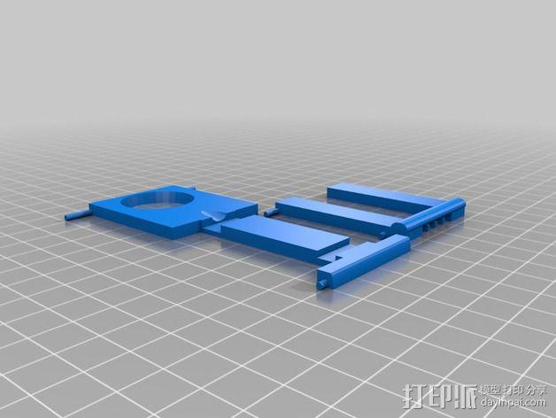 懒人必备带支撑座的iPhone 5手机套 3D模型  图4