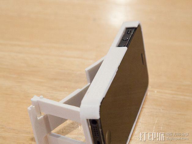 懒人必备带支撑座的iPhone 5手机套 3D模型  图7