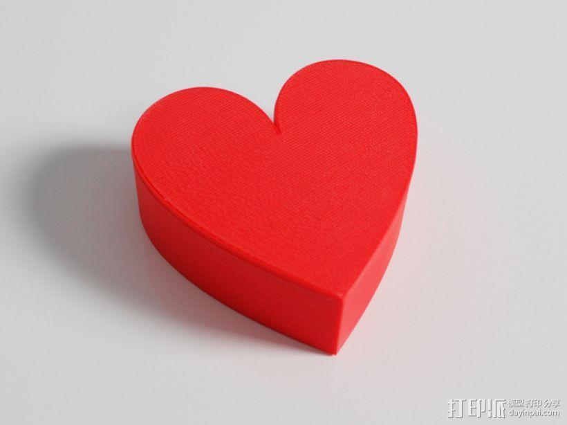 心形盒子 3D模型  图2