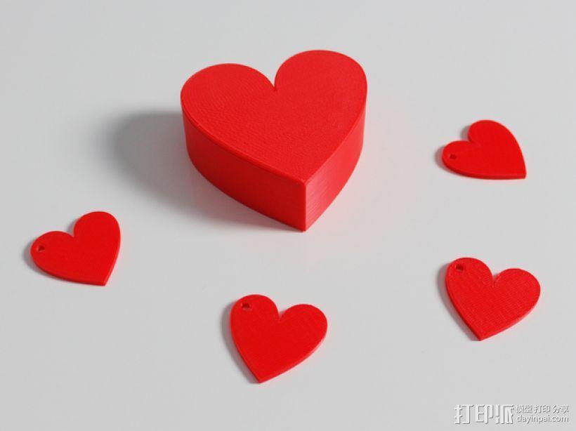 心形盒子 3D模型  图3