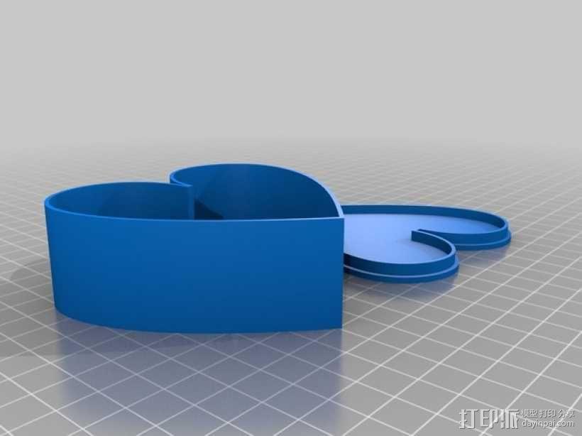 心形盒子 3D模型  图4