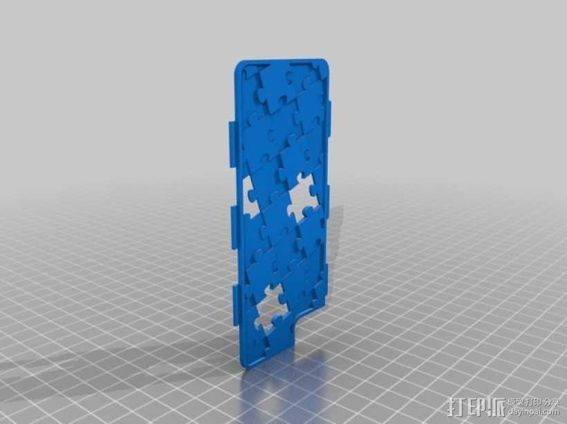 拼图iPhone 5/5S/5C 手机外壳 3D模型  图2