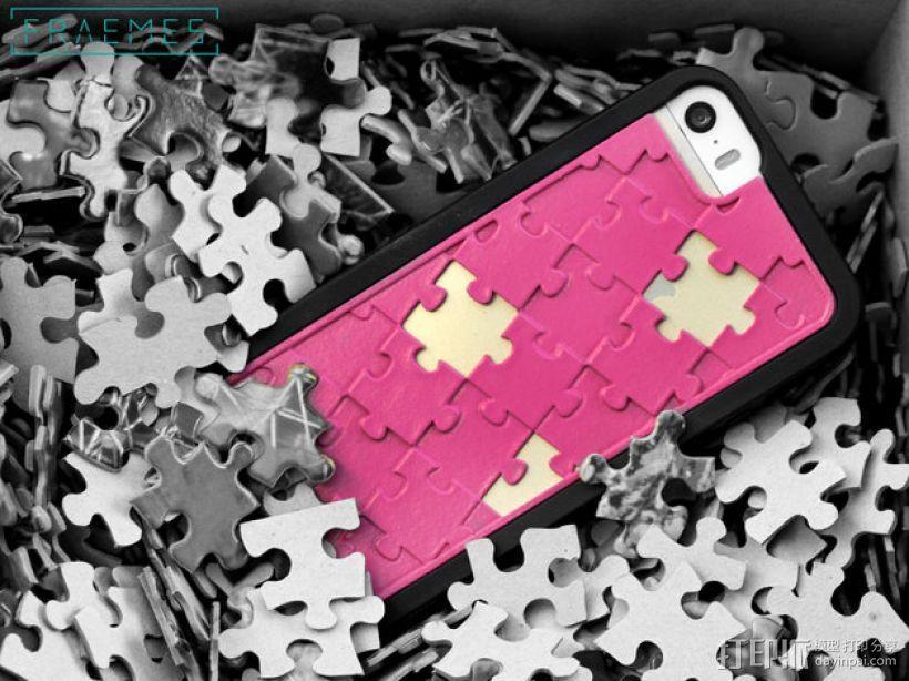 拼图iPhone 5/5S/5C 手机外壳 3D模型  图1