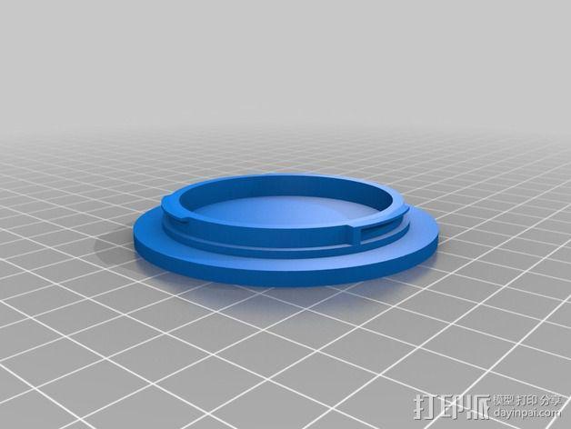 佳能相机镜头盖 镜头罩 3D模型  图2