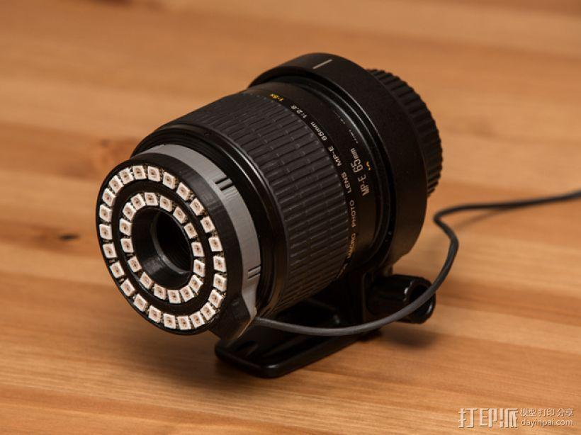 佳能MP-E 65相机镜头环形灯 3D模型  图1