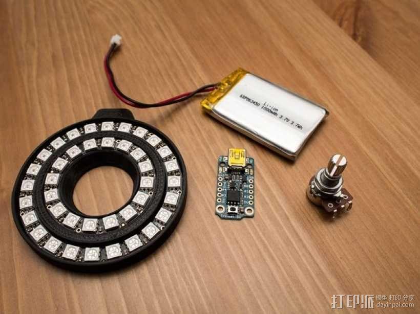 佳能MP-E 65相机镜头环形灯 3D模型  图4