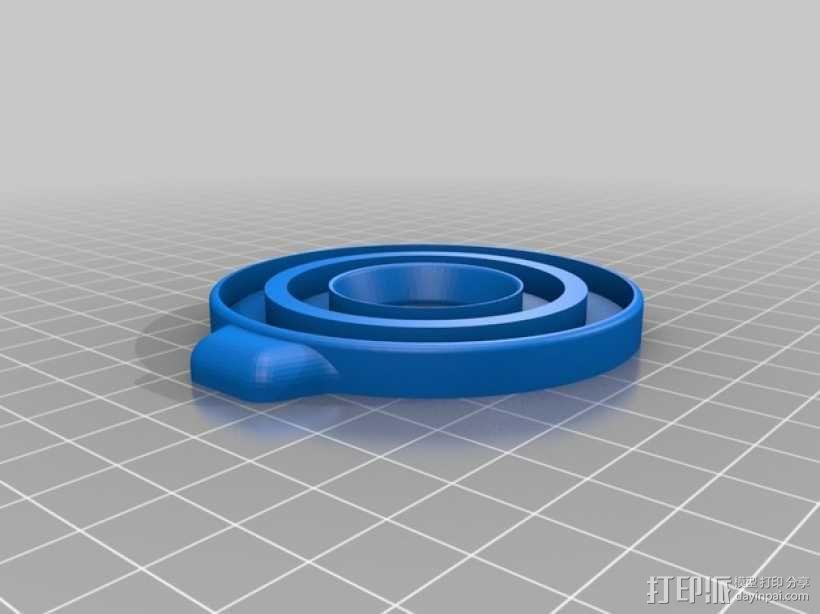 佳能MP-E 65相机镜头环形灯 3D模型  图5