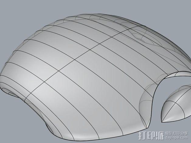苹果笔记本电脑标志 3D模型  图1