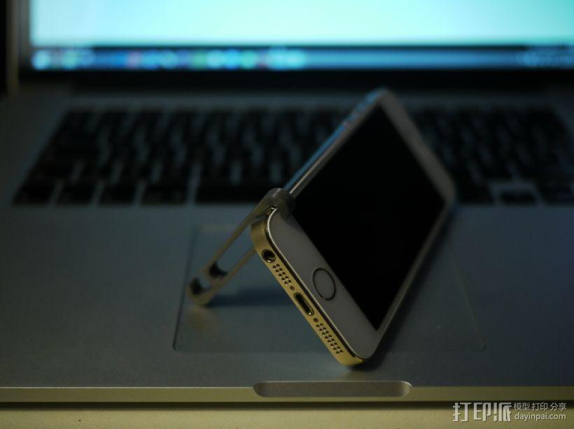 iPhone5/5s 手机支撑架 耳机收纳器 3D模型  图3