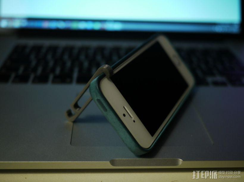 iPhone5/5s 手机支撑架 耳机收纳器 3D模型  图4