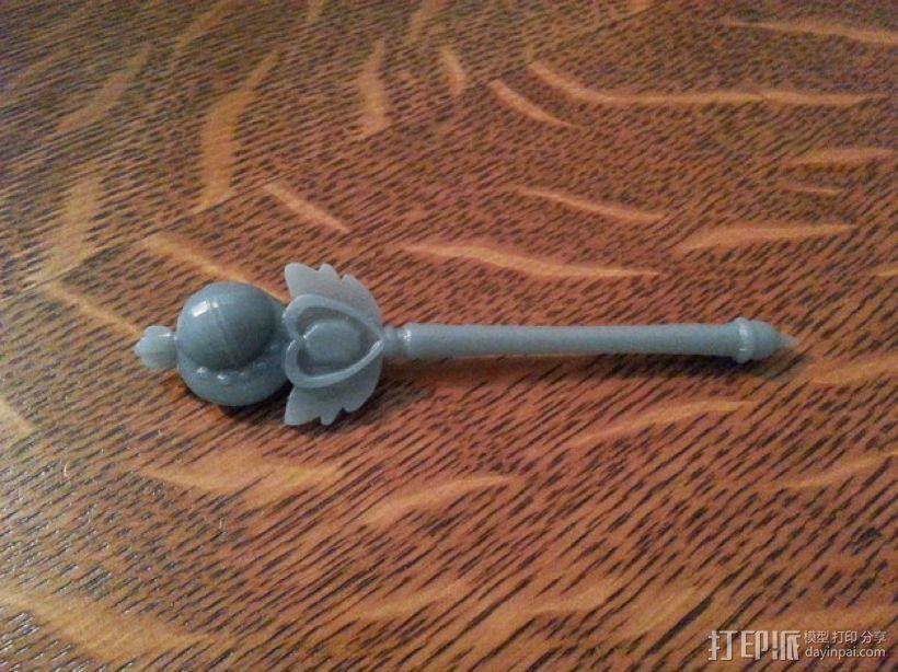 美少女战士的手杖 3D模型  图1