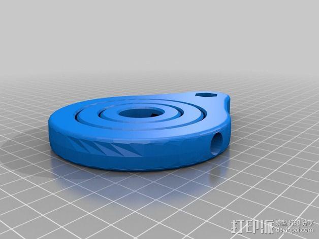 GoPro相机的伸缩支撑架 3D模型  图3