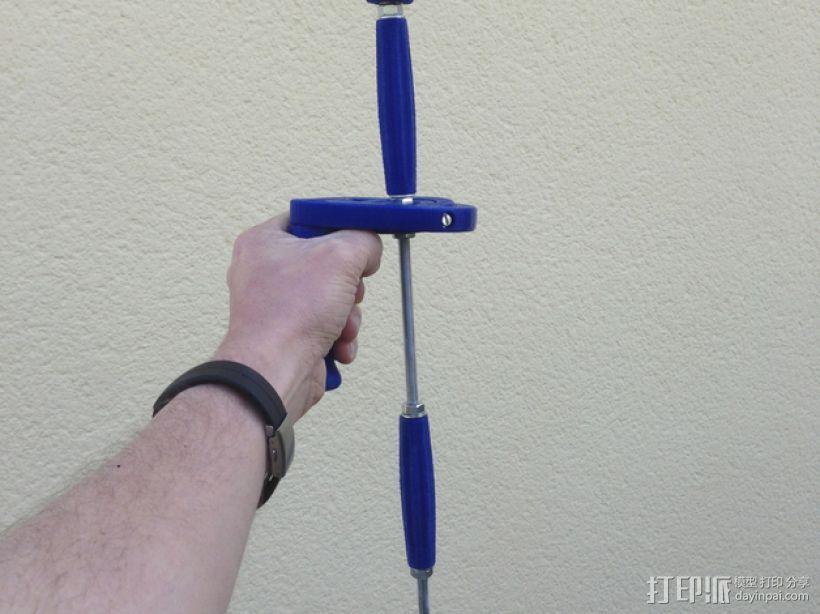 GoPro相机的伸缩支撑架 3D模型  图1