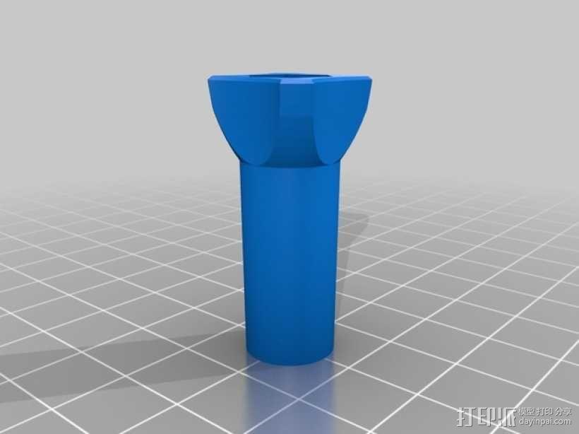 GoPro相机支撑架旋钮 3D模型  图5
