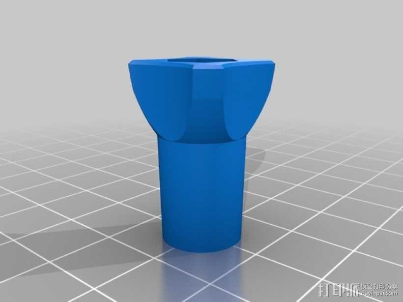 GoPro相机支撑架旋钮 3D模型  图6