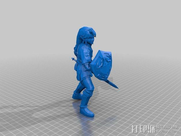 塞尔达传说 游戏造型 3D模型  图1