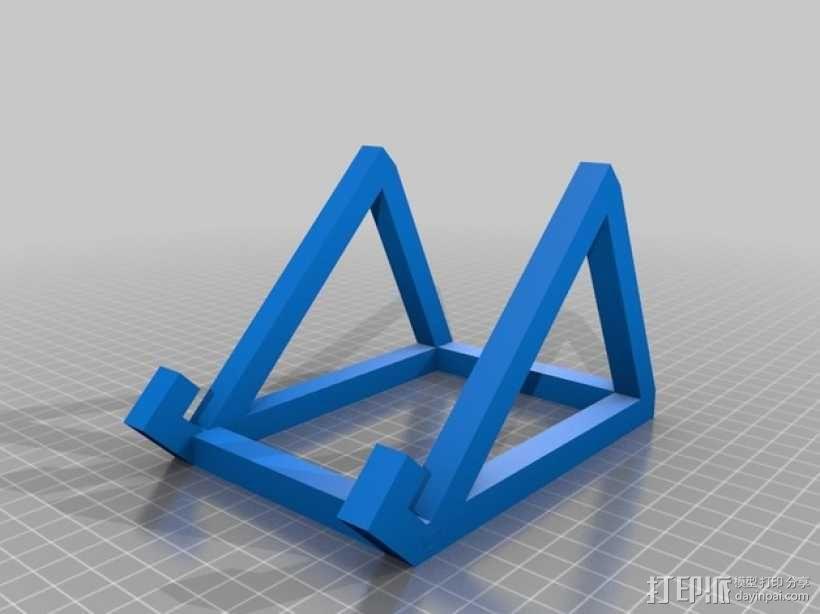 定制iPad固定架 3D模型  图1