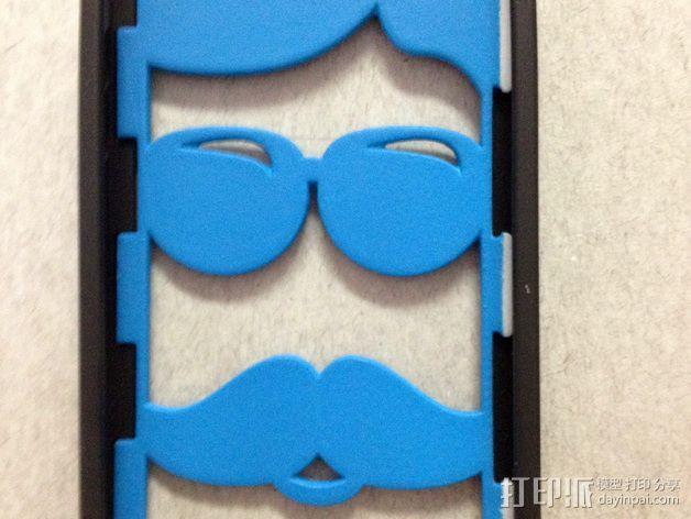 iPhone 5/5S胡须外壳 3D模型  图1