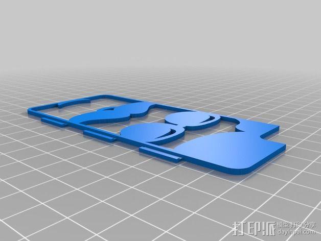 iPhone 5/5S胡须外壳 3D模型  图2